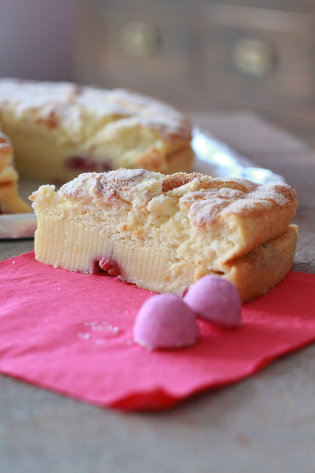 Gâteau magique à la framboise 2