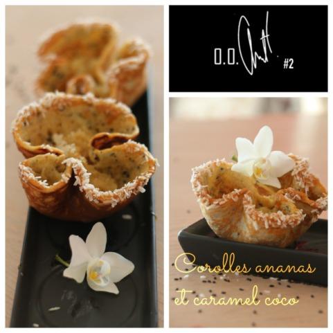 Corolles ananas et caramel coco