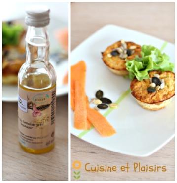 Flans carottes huile de sésame