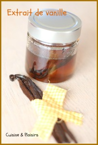 Extrait de vanille fait maison