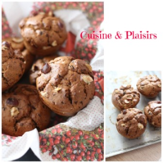 Muffins banane chocolat noisettes