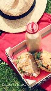 Sandwiches tomates séchées, roquette, parmesan