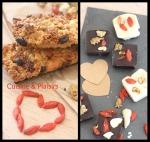 Carrés douceur chocolat et fruits secs et Barres de céréales énergie