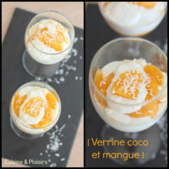 verrine coco et mangue