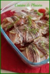 Filets de poulet lardés, thym et tomates