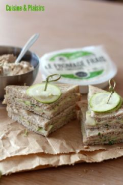 Club sandwiches thon courgettes