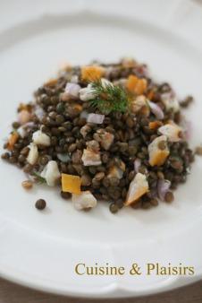 salade lentilles et haddock