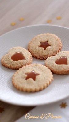Sablés coeur caramel