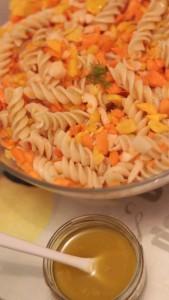 Salade hivernale pâtes et légumes croquants