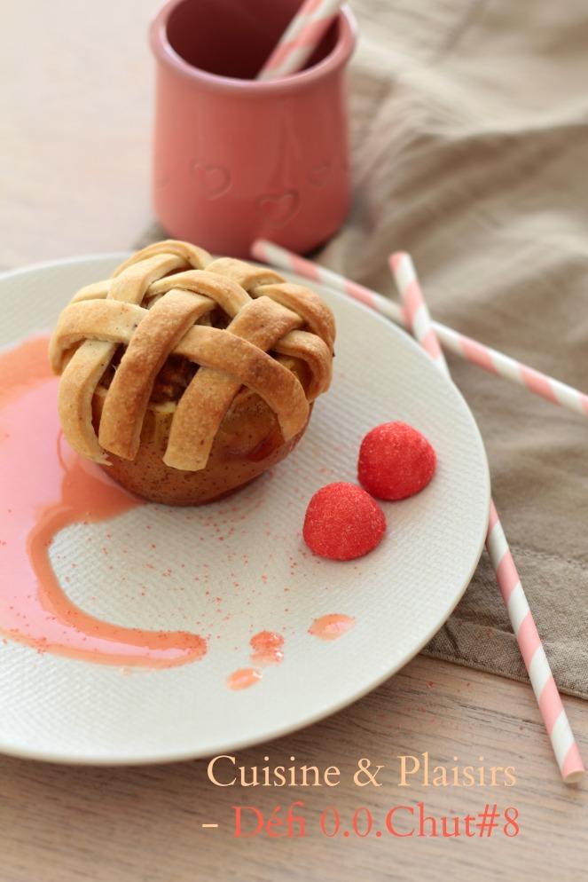 Défi 0.0.Chut#8 – Pommes-tartes au four sauce fraise tagada