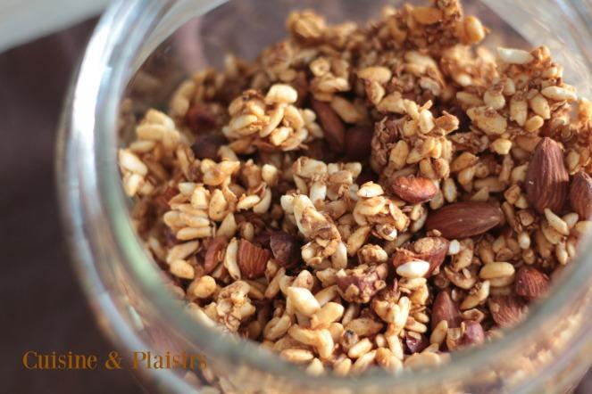 Granola maison pour petit-déjeûner