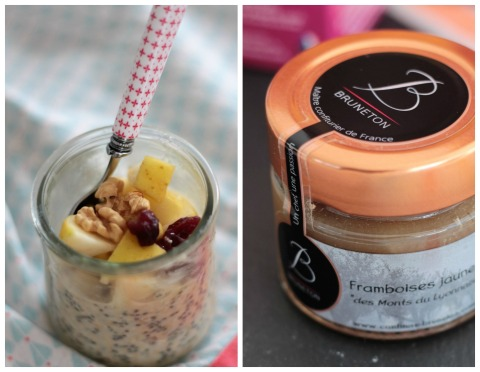 chia-pudding aux fruits frais